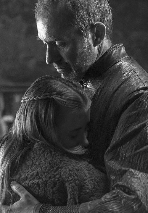 """swordofsnow:  """"… you are my daughter.""""Shireen and Stannis Baratheon ▐ Game of Thrones 5.04""""Sons of the Harpy x"""