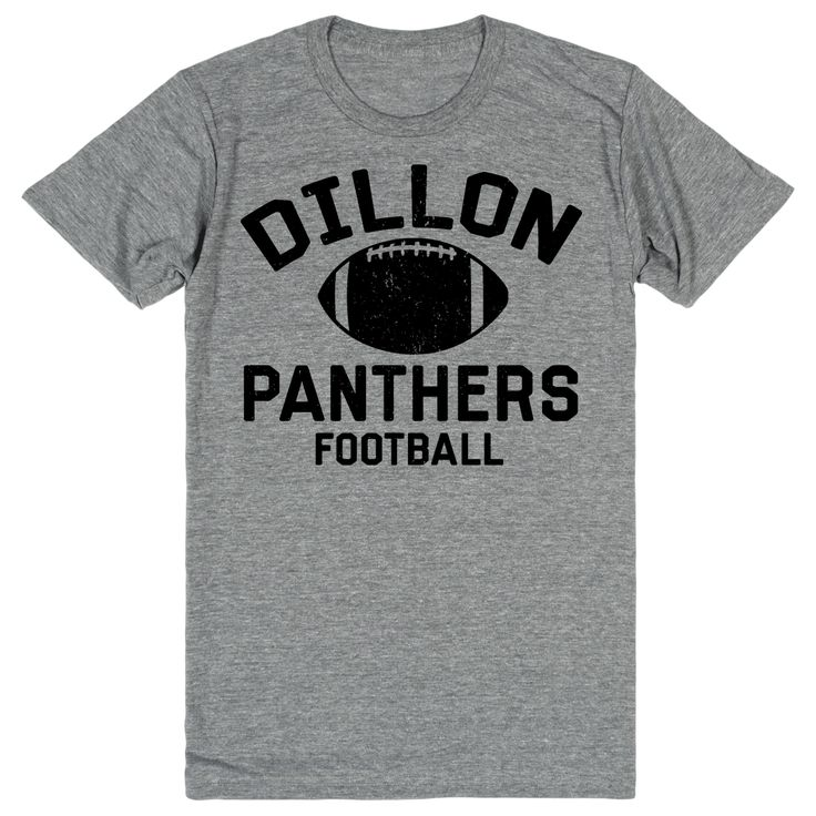 Cheer on the Dillon Panthers (in Friday Night Lights) on to victory in this Dillon Panthers fan shirt! It's ultra soft athletic grey fabric is the perfect addition to any true Friday Night Lights fans
