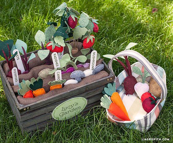 Filz Gemüse Gemüsegarten Spielgarten - Felt veggie garden DIY