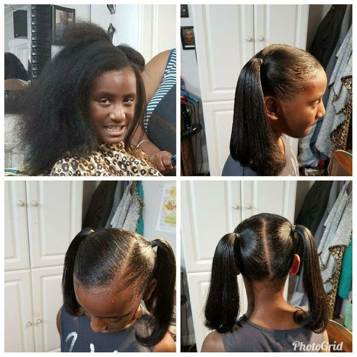 Silk press for the babies!!!! Hair Terrell Profit Salon