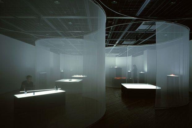 Perfumeexperform exhibition design using transparent materials as walls