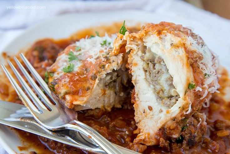 "Baked Chicken Breasts are stuffed with savory Italian sausage and gooey Mozzarella cheese. It's an easy weeknight meal that's classy enough for company. When someone says to me, ""This doesn't seem like one of your easy recipes"" while eating said easy recipe, I call that a win. This Italian Sausage Stuffed Baked Chicken is just …"