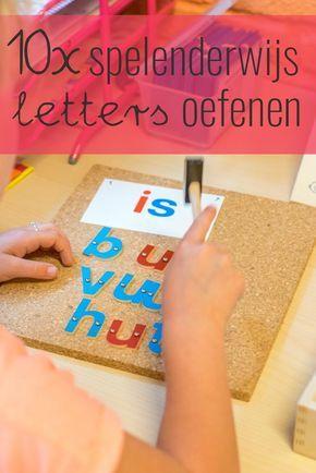 Het is belangrijk dat je activiteiten aanbiedt waardoor kinderen spelenderwijs letters oefenen. Je kunt dit doen door allerlei activiteiten te organiseren.