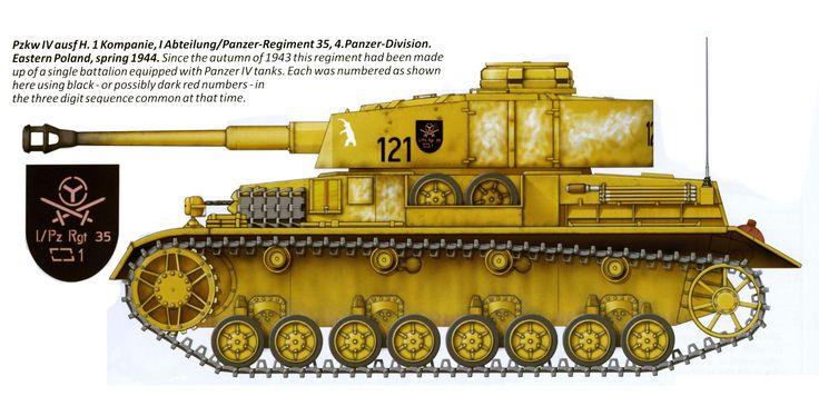 Panzer IV Ausf. H de la 1. Kompanie, I Abteilung, 4. Panzerdivision. Polonia 1944