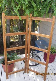 Oak Quilt Rack | Antique Oak Wood Linen Blanket Quilt Rack