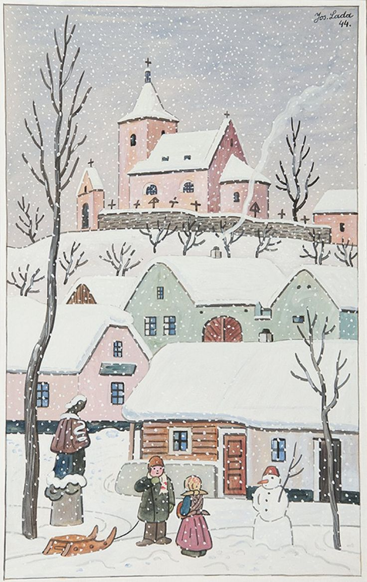 Josef Lada  (1887-1957)  Christmas atmosphere