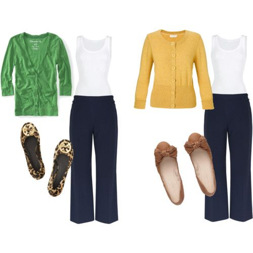 Navy Blue Pants--with green or yellow