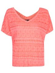 Aztec Burnout V Neck T-shirt £8