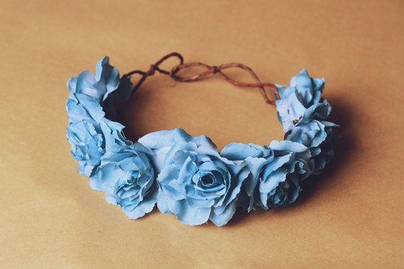 pastel blue rose crown  santa monica by kisforkani on Etsy, $39.00
