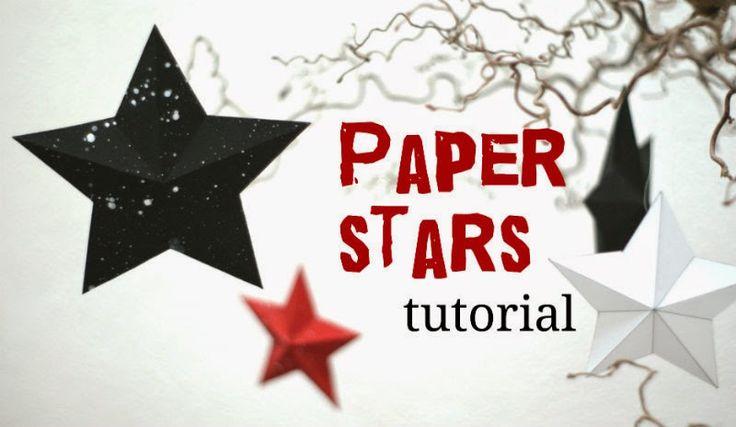 ClaroOkitaro blog: Paper stars tutorial ::: новогодние звёзды из бумаги