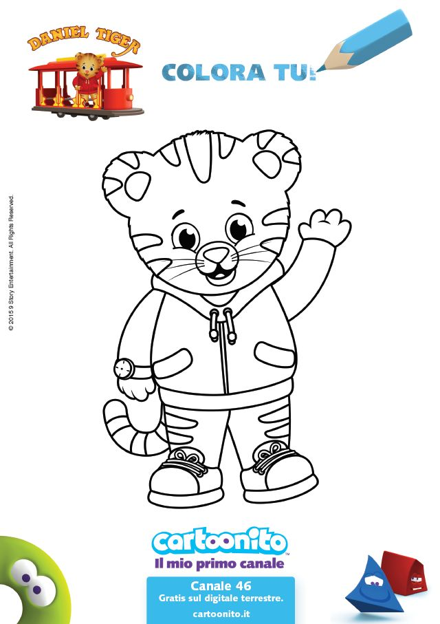 daniel tiger family coloring pages - photo#25