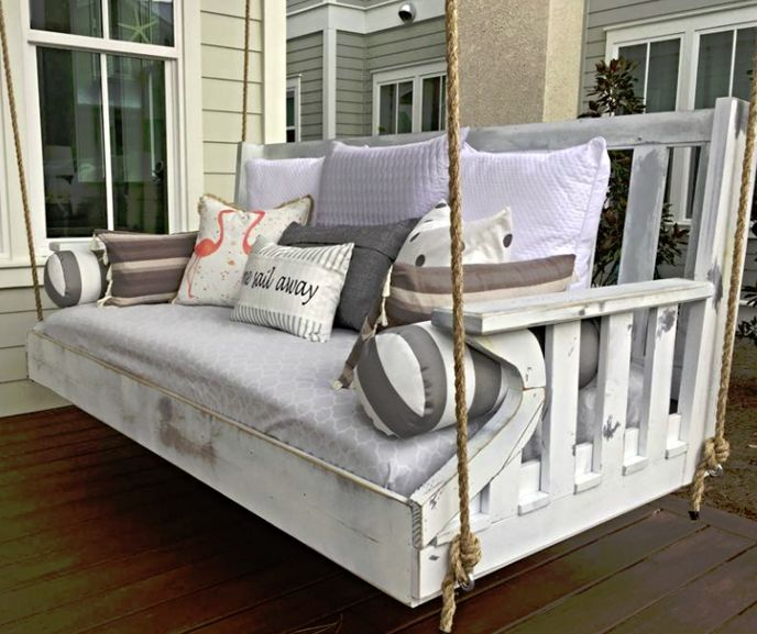 Custom Porch Swing Bed | Solid Wood, Handcrafted Porch Bed Swing |  Furniture By Brad