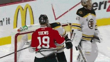 When someone you hate talks to your best friend. OMG Looch you bad boy. Milan Lucic David Krejci and Jonathan Toews #Bruins #Blackhawks #Humor