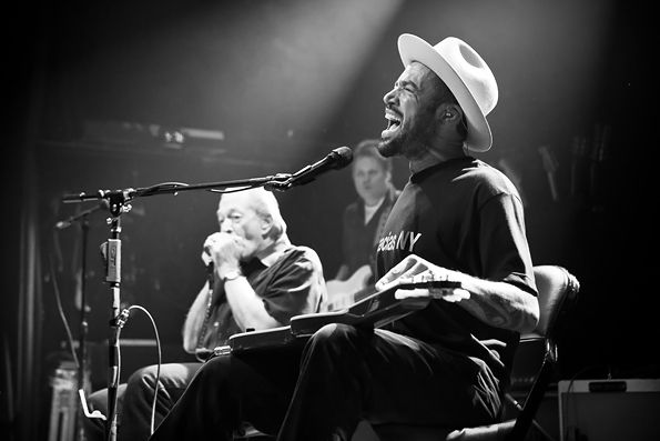 Ben Harper and Charlie Musselwhite perform at Irving Plaza in New York