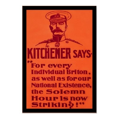 Kitchener Says ~ Vintage British WW1 Poster