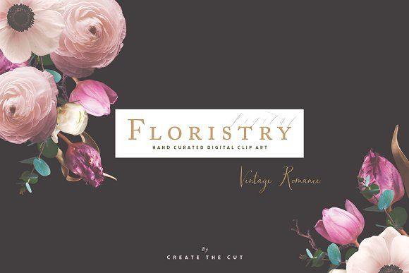 Digital Floristry - Vintage Romance by CreateTheCut on @creativemarket