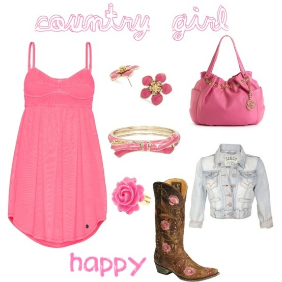 country girl - not the jewelry and love the purse style and color but needs silver accents