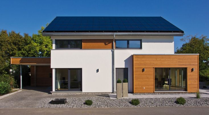 Modernes Einfamilienhaus mit Satteldach