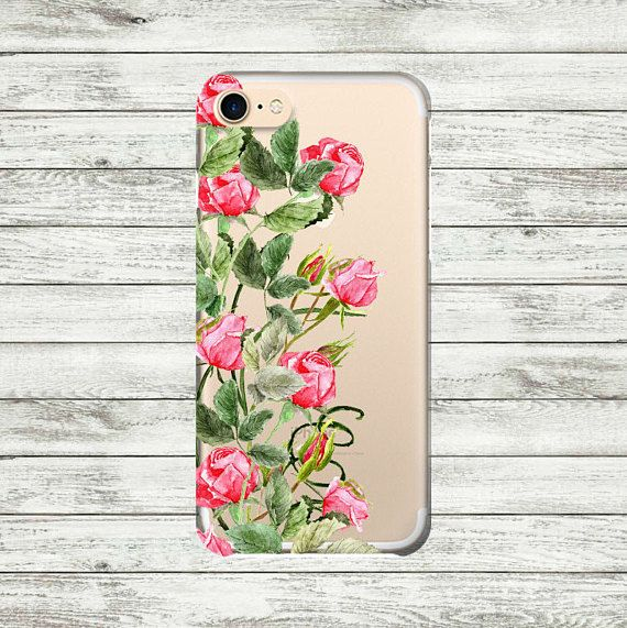 iPhone 7 case clear Floral Roses iPhone 6 case iPhone 6 Plus