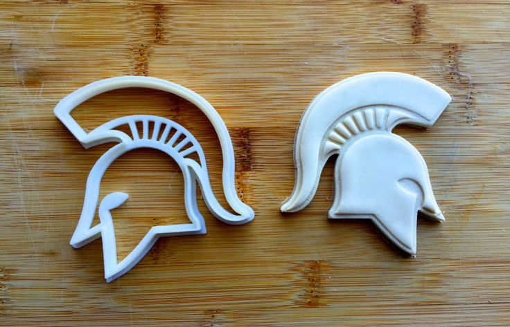 Michigan State Spartan Cookie Cutter by ThePrintingPavilion on Etsy