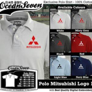 Baju Kaos Polo Mitsubishi Logo 1