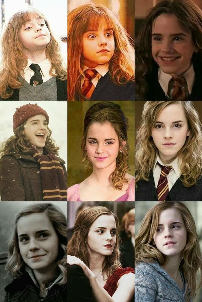 Emma Watson Start To End In Harry Potter Series Emma Watson Harry Potter Harry Potter Cast Harry Potter Actors