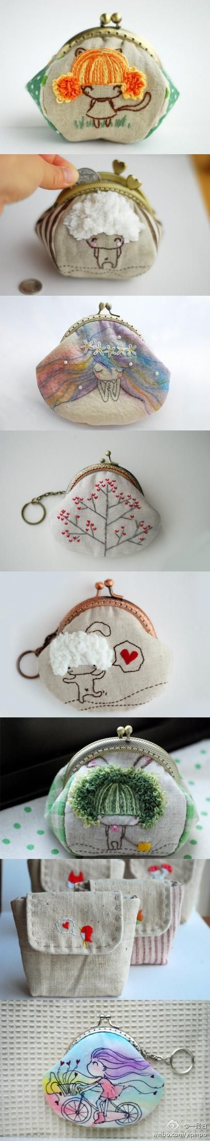 cute tiny coin purses