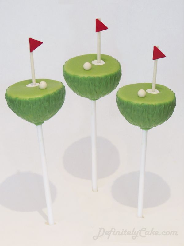 Putting Green Golf Cake Pops