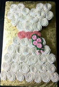 2113c wedding dress cupcake cake