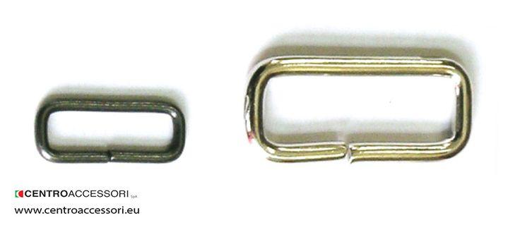 Passanti 1257-1413. Metal rectangular rings 1257-1413. #CentroAccessori