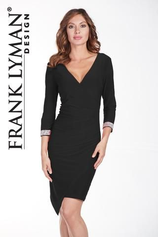 Stunning cocktail dress with diamonte cuff. Proudly Made in Canada