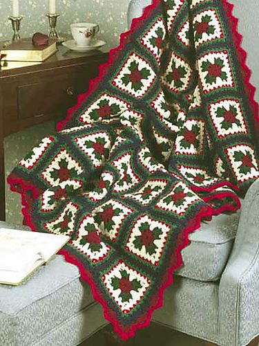 Christmas Granny Afghan pattern by Katherine Eng; Free pattern ~ Ravelry.