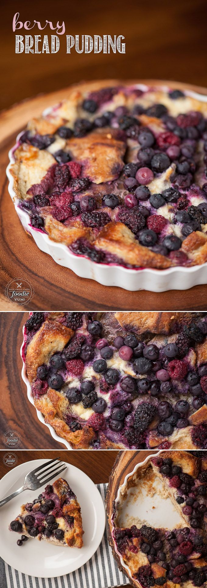 Berry bread pudding recipe berries few ingredients for Easy apple dessert recipes with few ingredients