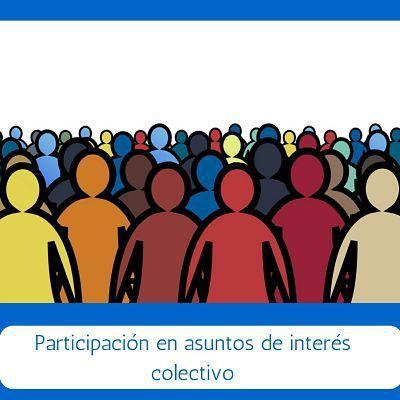 Los asuntos de interés colectivo son aquellos que competen a todos los integrantes de una sociedad o grupo. En una sociedad democrática como la nuestra el pueblo ejerce la soberanía a través de los representantes y gobernantes que eligieron, para que esto funcione se requiere de la participación activa de todos los ciudadanos. La ciudadanía …