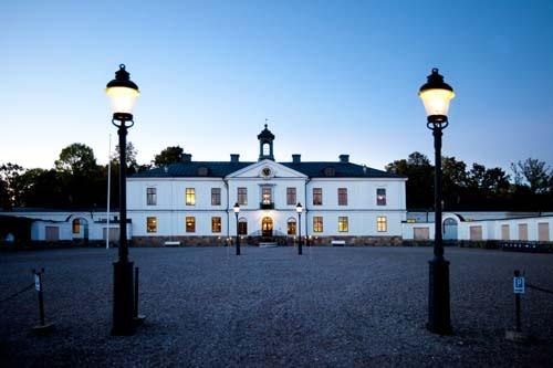 The beautiful mansion Gimo Herrgård, in Uppland, Sweden