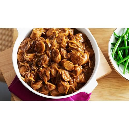 This quick & simple sausage casserole recipe from Australian Women's Weekly is made in the oven or stove (without tomatoes). Serve with rice or mash.