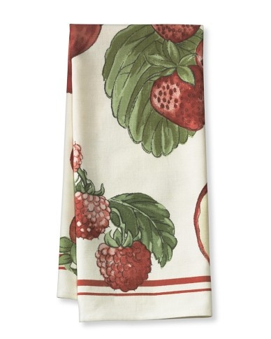Botanical Fruit Towels, Set Of 2, Red Fruits From Williams Sonoma