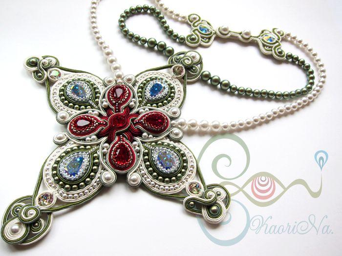 ソウタシエ・ネックレス Soutache Necklace by KaoriNa. - Part of Me
