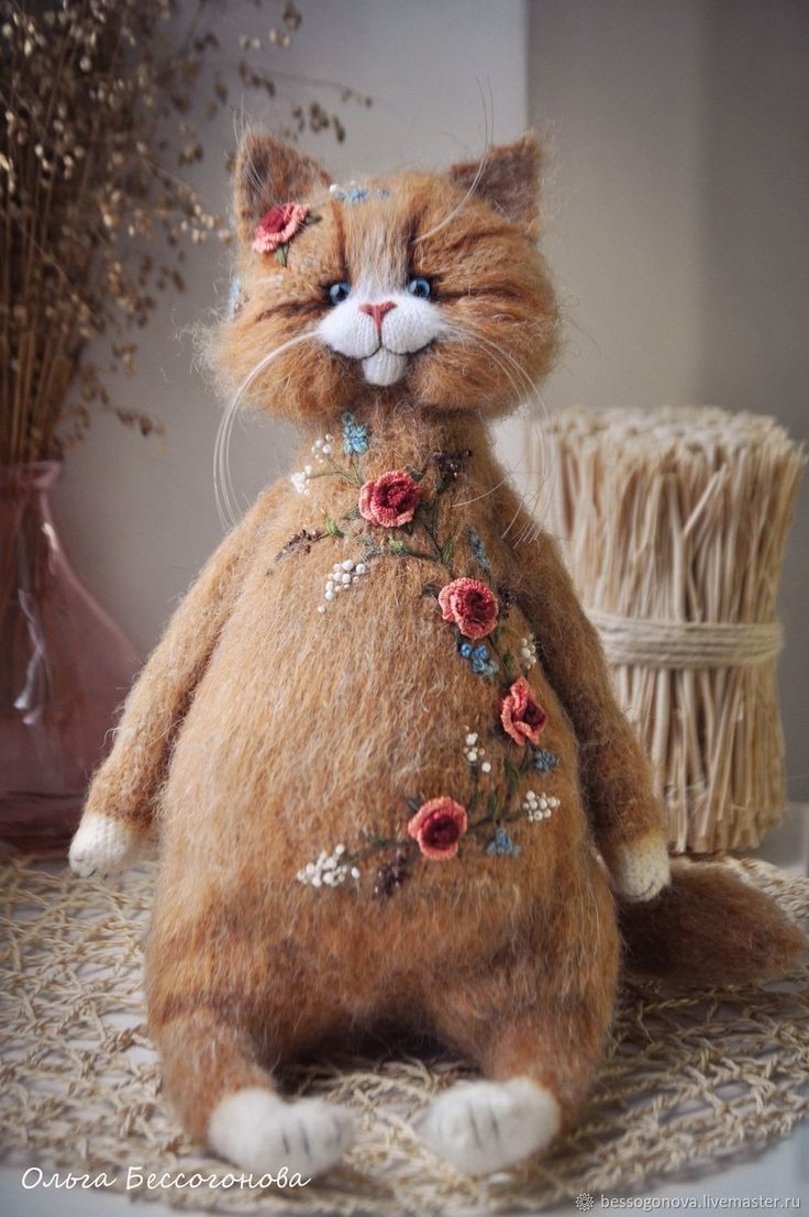 Toy Cat with Embroidery on Livemaster online shop
