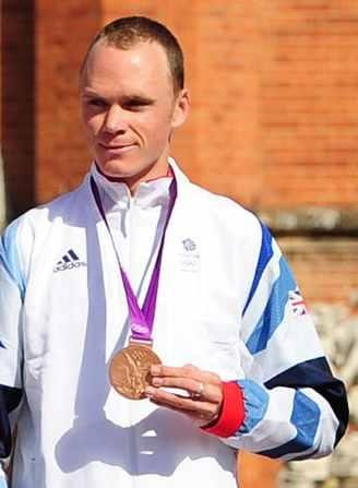 Team GB's Chris Froome with his bronze medal for the Men's Individual Time Trial