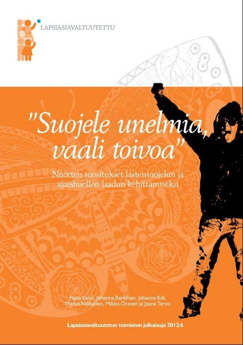 """Kuvaus: Lapsiasiavaltuutetun toimisto toteutti yhteistyökumppaneineen syksyllä 2011 """"Uskomme Sinuun- Usko Sinäkin"""" -kiertueen lastensuojelun asiakkaana olevien nuorten parissa. Eri puolilla maata tavattujen 120 nuoren kokemuksista on koottu suositukset päättäjille lastensuojelun ja sijaishuollon kehittämiseksi. Raportti osoittaa, miten välttämätöntä lastensuojelussa toimivien aikuisten on ottaa lapset ja nuoret mukaan toimintansa kehittämiseen."""