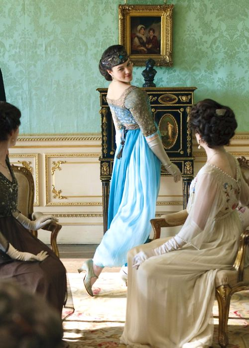 Downton Abbey is amazing. Jessica Brown-Findlay plays Lady Sybil Crawley. I love her story line. Such a strong, empowering character of the times.