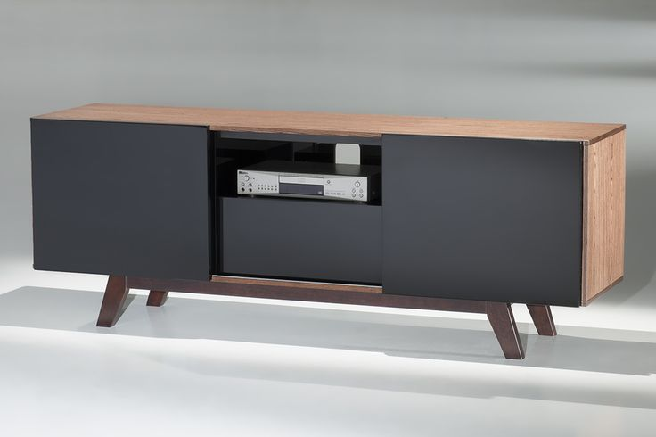 Furnitech ft70rbl 70 inch modern tv stand media console for 70 inch console table
