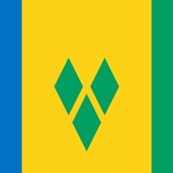 St Vincent and the Grenadines Flag Stickers