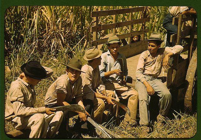 Sugar cane workers resting, Rio Piedras, Puerto Rico  (LOC)