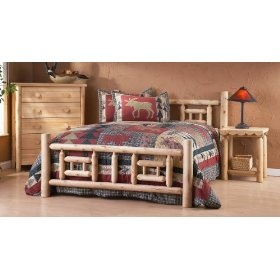 Take a look at this hand crafted rustic cedar log bed! This bed was made from Northern White Cedar logs and they were all smoothed by hand. This bed is available in a variety of sizes and is sure to be the center piece of any master bedroom decor.