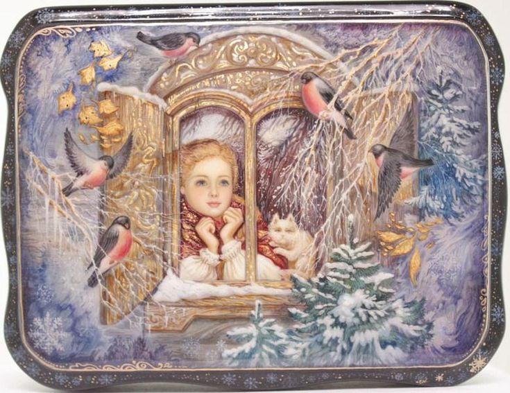 """""""At the Window"""" by Mochalova, Fedoskino"""
