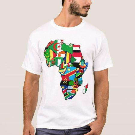 African Map of Africa flags within country maps T-Shirt - click to get yours right now!