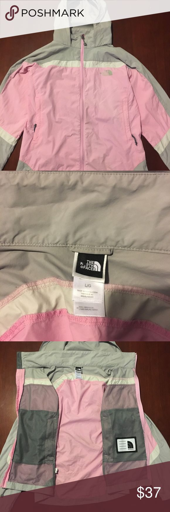 NORTHFACE HYDRENALITE WINDBREAKER!!! This north face windbreaker is in great condition! It has a minor stain in the back that is extremely unnoticeable, other than that it is in perfect condition. It is easy to wear, and layer, contains many pockets and compartments, and it is waterproof! North Face Jackets & Coats