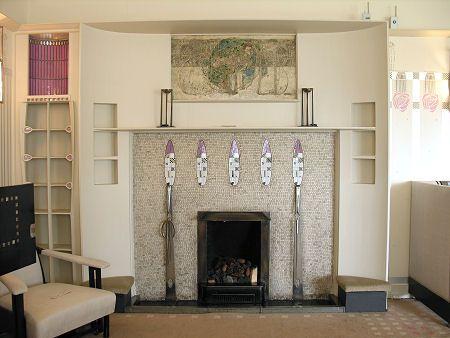 Charles Rennie Mackintosh (1868-1928) & Margaret Macdonald Mackintosh (1865-1933) - Drawing Room. Hill House. Helensburgh, Scotland. Circa 1903.